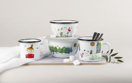 Moomin Enamel Bowl Moomin Valley 6dl