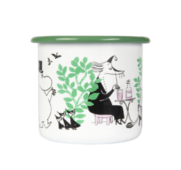 Moomin Enamel Mug, 3,7 dl, Day in the Garden