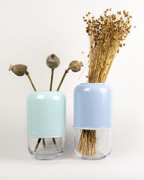 Capsule vase, mint/transparent