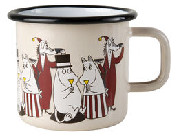 Moomin Friends enamel mug, 3,7dl, red