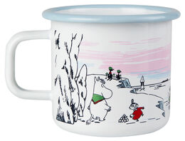 Moomin enamel  mug, 3,7dl, Winter Time