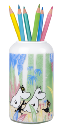 Moomins in the Jungle Vase 12cm, white