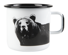 Nordic enamel mug, 8 dl, The Bear