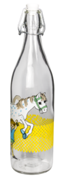 Pippi Glass Bottle Pippi and the Horse 1L