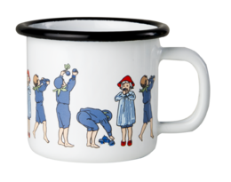 Elsa Beskow enamel mug, 1,5dl, Blueberries