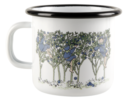 Elsa Beskow enamel mug, 2,5dl, Blueberries