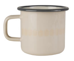 Kitchen series with Vappu enamel mug, 3,7 dl, beige