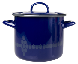 Kitchen series with Vappu casserole with lid, 2,5 l, blue