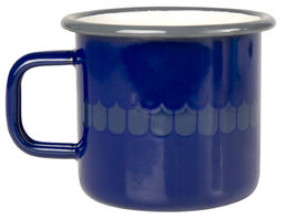 Kitchen series with Vappu enamel mug, 3,7dl, blue