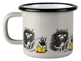 Moomin Friends enamel mug, 1,5 dl, Stinky