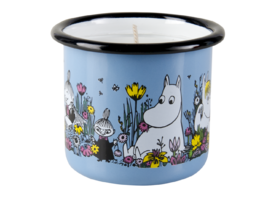 Moomin candle in enamel mug, 2,5dl, Shared Moment