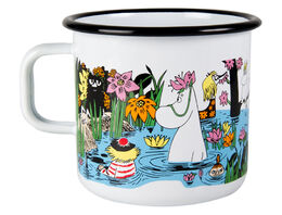 Moomin enamel mug, 8dl, Trip to the pond