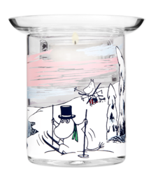 Moomin candle holder, Winter, 10 cm