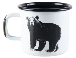 Nordic enamel mug, 3,7dl, The Bear