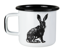 Nordic enamel mug, 3,7dl, The Hare