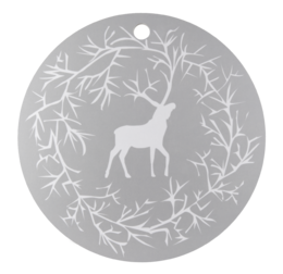 Reindeer cutting/serving board, 30cm