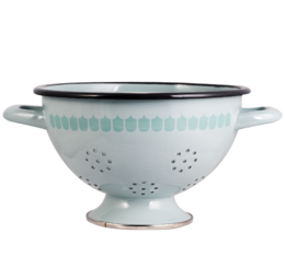 In the Kitchen with Vappu Enamel Colander green 20cm