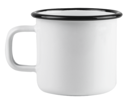 Basic enamel mug, 2,5dl, white