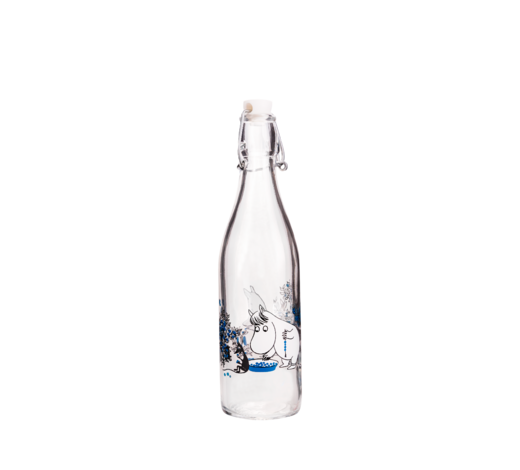 Moomin Glass Bottle Blueberries 0,5L