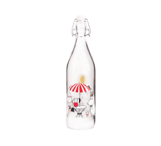 Moomin Glass Bottle Summertime 1L