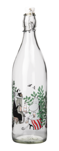 Moomin Glass Bottle Day in the Garden 1L