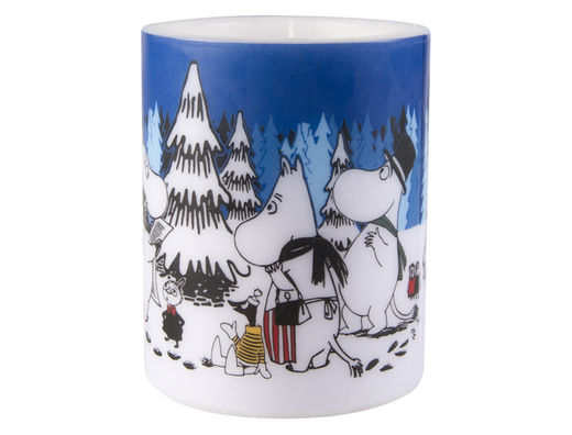 Moomin Candle, 12 cm, Winter Forest