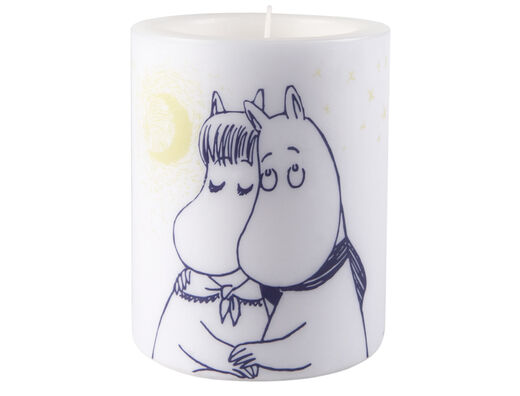 Moomin Candle, 12 cm, Winter Romance