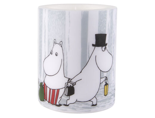 Moomin Candle, 12 cm, Winter Trip