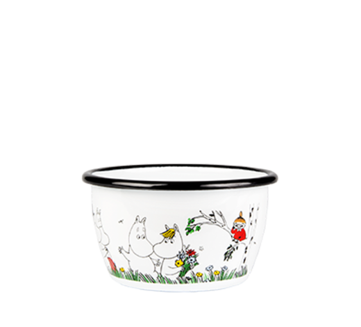 Moomin Enamel Bowl Happy Family 3dl