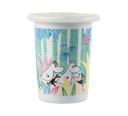 Moomin Enamel Tumbler with silicone Moomins in the Jungle 5dl