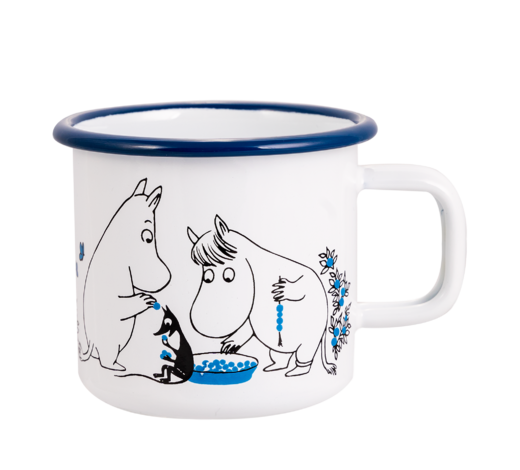 Moomin Enamel Mug Blueberries 3,7dl