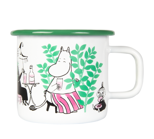 Moomin Enamel Mug Day in the Garden 3,7dl