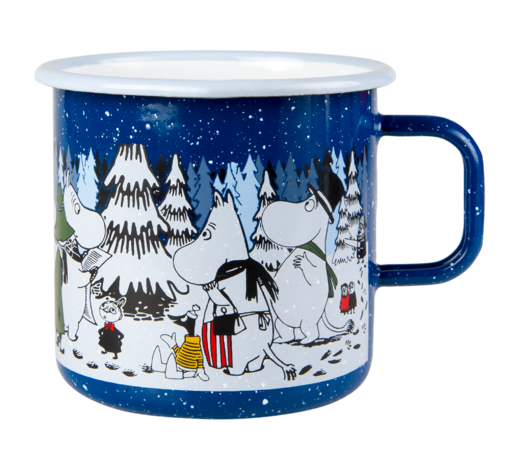 Moomin Enamel Mug Winter Forest 8dl