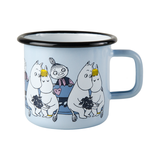Moomin Enamel Mug Friends blue 3,7dl