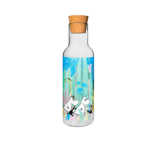 Moomin Bottle/pitcher with cork stopper Moomins in the Jungle 1L