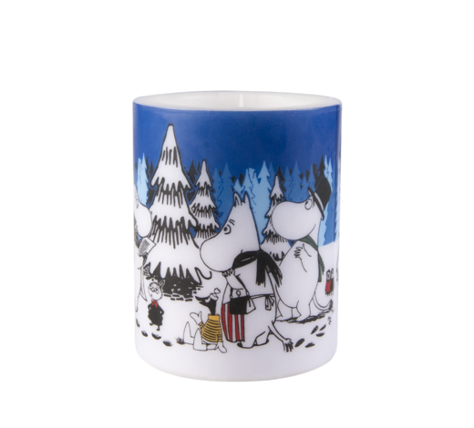 Moomin Candle Winter Forest 12cm