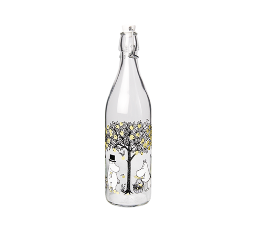 Moomin Glass Bottle Apples 1L