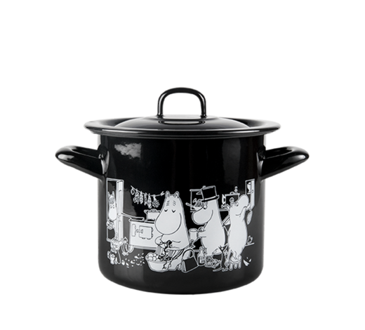 Moomin Enamel Pot in the Kitchen 1,5L