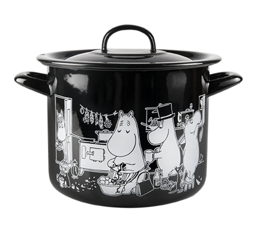 Moomin Enamel Pot in the Kitchen 3,5L