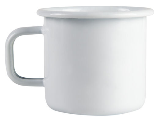 Basic enamel mug, 3,7dl, Pure White