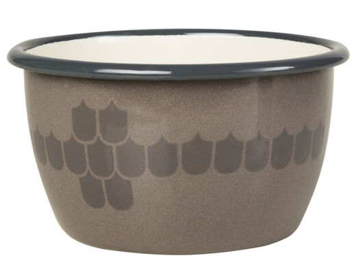 Kitchen series with Vappu enamel bowl, 3 dl, brown