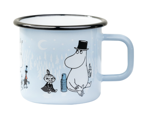 Moomin Enamel Mug Day on Ice 3,7dl