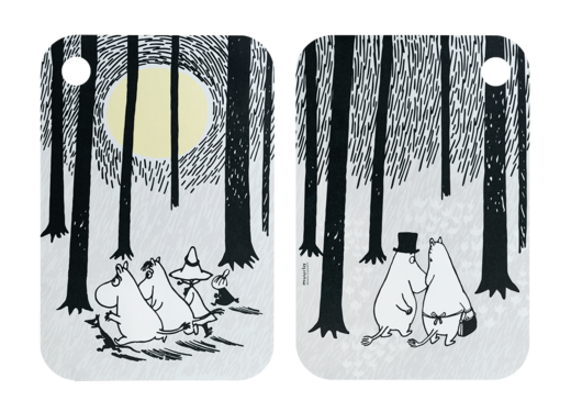 Moomin Chop & Serve serving/cutting board, 21x31cm, In the woods