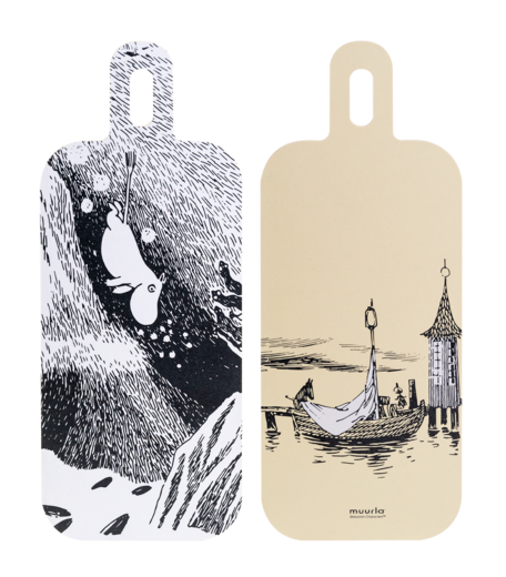 Moomin Chop & Serve serving/cutting board, 13x33cm, Adventures on the water