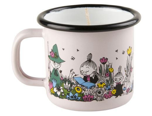 Moomin candle in enamel mug, 1,5dl, Shared Moment