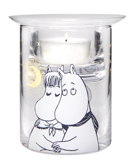Moomin Tealight Holder, 10 cm, Winter Romance