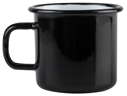 Basic enamel mug, 3,7 dl, black
