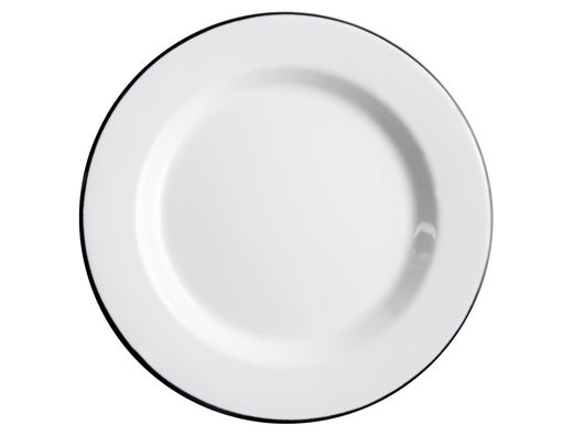 Basic enamel plate, 24 cm, black/white