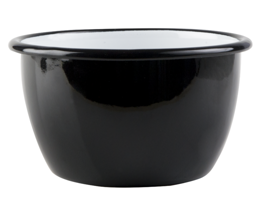 Basic enamel bowl, 6dl, black