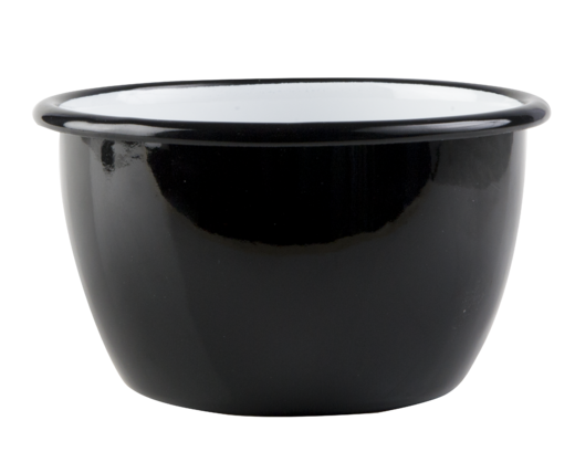 Basic enamel bowl, 2l, black